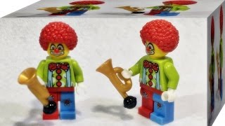 getlinkyoutube.com-Bozhi 서커스 어릿광대 미니피규어 시즌1 레고 짝퉁 리뷰 Lego knockoff 8683 clown
