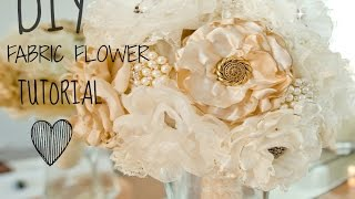 #1 BEST FABRIC FLOWER TUTORIAL!! (BURNING METHOD)