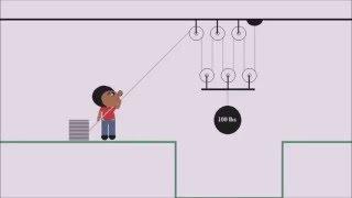 getlinkyoutube.com-How Pulley's Work, Simple Machines, Cartoon, Kids Cartoon, How things work,  kids learning