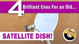 getlinkyoutube.com-4 Brilliant Uses for an old SATELLITE DISH!