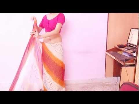 How To Wear Chundri Print Saree Blouse-Saree/Blouse/Petticoat/Underskirt