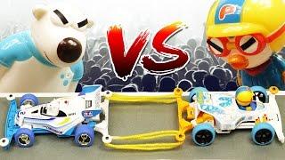 getlinkyoutube.com-자동차 줄다리기 결투 포비카 VS 뽀로로카 ★뽀로로 장난감 애니 (Racing Car Game with Pororo Friends)