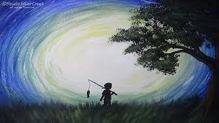 "getlinkyoutube.com-Acrylic Painting  ""Gone Fishing"" - Speed Painting - #lovesummerart"