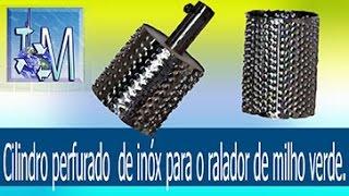 getlinkyoutube.com-Cilindro perfurado  de inóx para o ralador de milho verde
