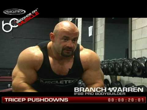 """60 Seconds on Muscle"" Branch Warren: Tricep Pushdowns"