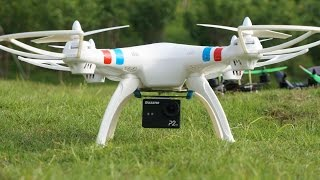getlinkyoutube.com-Syma X8C Quadcopter Outdoor flight with HD Action Sports Camera