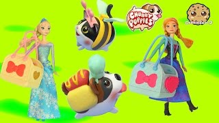 getlinkyoutube.com-Dress Up Chubby Puppies Boxer Dog + Cat with Queen Elsa & Anna Cookieswirlc Video