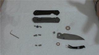 getlinkyoutube.com-Устройство ножей #2: Chris Reeve Sebenza 21 disassembly