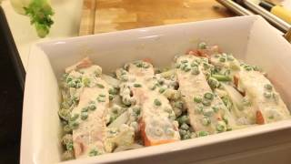 getlinkyoutube.com-Salmon fish & salad