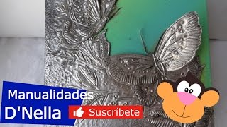 "getlinkyoutube.com-Manualidades: CAJA CON ALUMINIO 1 - By: ""Taller Dnella'' 2013"