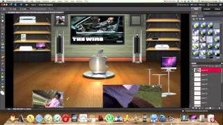 getlinkyoutube.com-How to make your own custom 3D desktop background using photo shop.