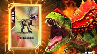getlinkyoutube.com-NEW Dinosaurs GORGOSAURUS Max Level Feeding - Jurassic World The Game