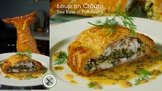 getlinkyoutube.com-Loup en Croûte / Sea Bass in Puff Pastry – Bruno Albouze – THE REAL DEAL