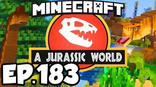Jurassic World: Minecraft Modded Survival Ep.183 - NEW DINOSAURS AREA & FOSSIL MINE (Dinosaurs Mods)