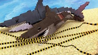 Jaws Movie - Killing Jaws and Mega Robo Shark! (Minecraft Roleplay) #10