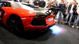 getlinkyoutube.com-LOUD Lamborghini Aventador by JP-Performance spitting flames! - Essen Motor Show 2015