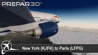 getlinkyoutube.com-[P3D V3.4] New York (KJFK) ✈   Paris (LFPG)   PMDG 777-200