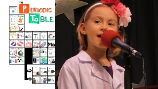 "6yo Girl sings ""The NEW Periodic Table Song (In Order)"" at talent show"