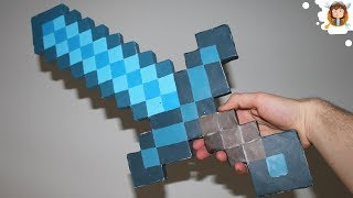 getlinkyoutube.com-Minecraft - Diamond Paper Sword
