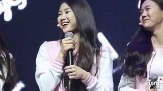 getlinkyoutube.com-150420 OH MY GIRL 데뷔 쇼케이스 - 지호가 본 멤버들의 첫 인상은?