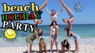 getlinkyoutube.com-Aussie Beach Holiday Party | Twins Teagan & Sam