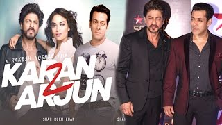 getlinkyoutube.com-Salman & Shahrukh Khan Announce Making of Karan Arjun 2 Movie