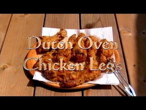 Buttermilk fried Chicken Legs, Dutch Oven, how to video recipe littleGasthaus