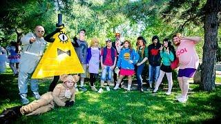 getlinkyoutube.com-Gravity Falls cosplay ENG SUB (Гравитация упала и поднимается с колен)