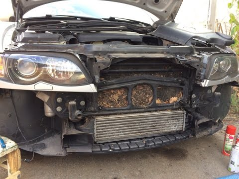 Грязь на радиаторе кондиционера BMW E46 320D Touring