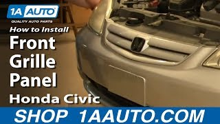 getlinkyoutube.com-How To Install Replace Front Grille Panel Honda Civic 01-05 1AAuto.com