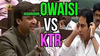 getlinkyoutube.com-Akbaruddin Owaisi Vs KTR | Give Respect and Take Respect | Telangana Assembly Session | Mango News