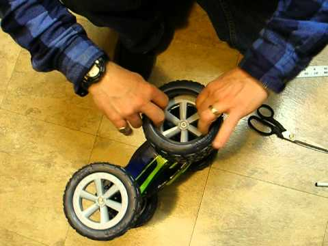how to install foam in rc car tire to improve hasbro tonka stunt pro