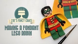 getlinkyoutube.com-How to make a fondant lego Robin superhero How To Tutorial Zoes Fancy Cakes