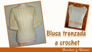 getlinkyoutube.com-Blusa crochet trenzada para verano
