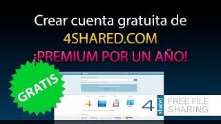 getlinkyoutube.com-Crear cuenta PREMIUM GRATIS de 4SHARED.COM !! [100% Legal]