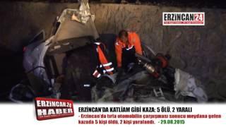 Erzincan'da Katliam Gibi Kaza: 5 Ölü, 2 Yaralı