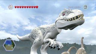 getlinkyoutube.com-LEGO Jurassic World - Indominus Rex Free Roam Gameplay [HD]