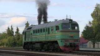 getlinkyoutube.com-Запуск дизеля тепловоза М62-1244 / M62-1244 awesome engine start