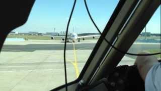 getlinkyoutube.com-Take Off Frankfurt Airport FRA - Flight Deck / Cockpit Condor Boeing 767-300