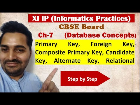 Class 11 IP | # 20 | Ch-7 | Database Concepts| CBSE Board