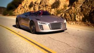 getlinkyoutube.com-The Audi e-tron Spyder in Malibu, California