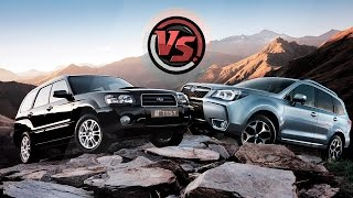 getlinkyoutube.com-2hp: Subaru Forester 2016 VS Subaru Forester 2004