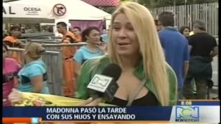 getlinkyoutube.com-Madonna en Medellín - Noticiero RCN  - Entrevista con Arthur Foegel