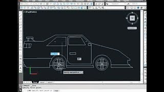 How to design a car on AutoCAD in simple way