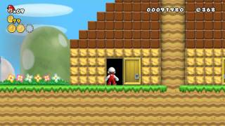 getlinkyoutube.com-New Super Mario Bros Wii Hellboy Edition Welt 1-1 bis 1-Tower