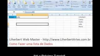 getlinkyoutube.com-Como criar uma LISTA no Microsoft Office Excel 2007- criando lista em excel