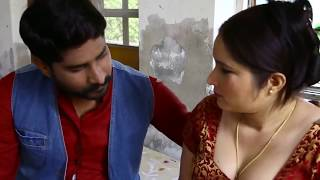 Indian Aunty kising with young boy || indian aunty romance with young boy || Hot mullu aunty romance