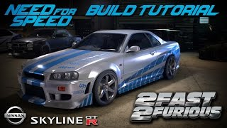 getlinkyoutube.com-Need for Speed 2015 | 2 Fast 2 Furious Brian's Nissan Skyline Build Tutorial | How To Make