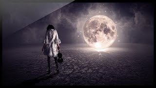 getlinkyoutube.com-Photoshop: How to make a photo manipulation between the Girl and the Moon