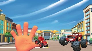 getlinkyoutube.com-without music Blaze finger family - Nursery Rhymes for Children - kids Tv